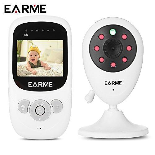 SP8802.4G Monitor de vídeo inalámbrico para bebé con visión nocturna, conversación bidireccional, de 6cm, con cristal líquido, indica la temperatura