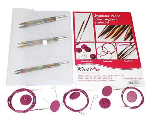 KnitPro auswechselbare Nadeln Starter-Kit, Holz, 1-Pack