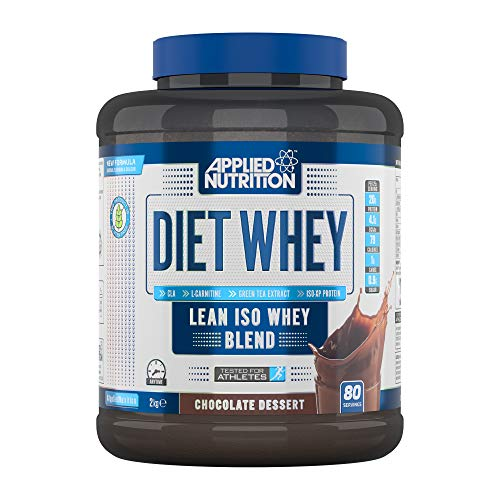 Applied Nutrition Diet Whey Protein Powder Supplement Low Carb & Sugar High Protein, Weight Loss, with CLA Gold, L Carnitine, Green Tea, High Phd Standard 2kg - 80 Servings (Chocolate Dessert)