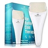 Proyecto E Beauty Terapia de frío con rodillo de hielo | Cara Ojo corporal Masajeador Inflamación...