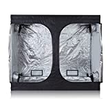 PrimeGarden Hydroponic 600D High Reflective Mylar Grow Tent Dark Room with Observation Window and...