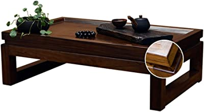 Coffee Table Small Tea Table Solid Wood Tatami Table Children's Study Table Multifunctional Table Tables (Color : Brown, Size : 50 * 40 * 25cm)