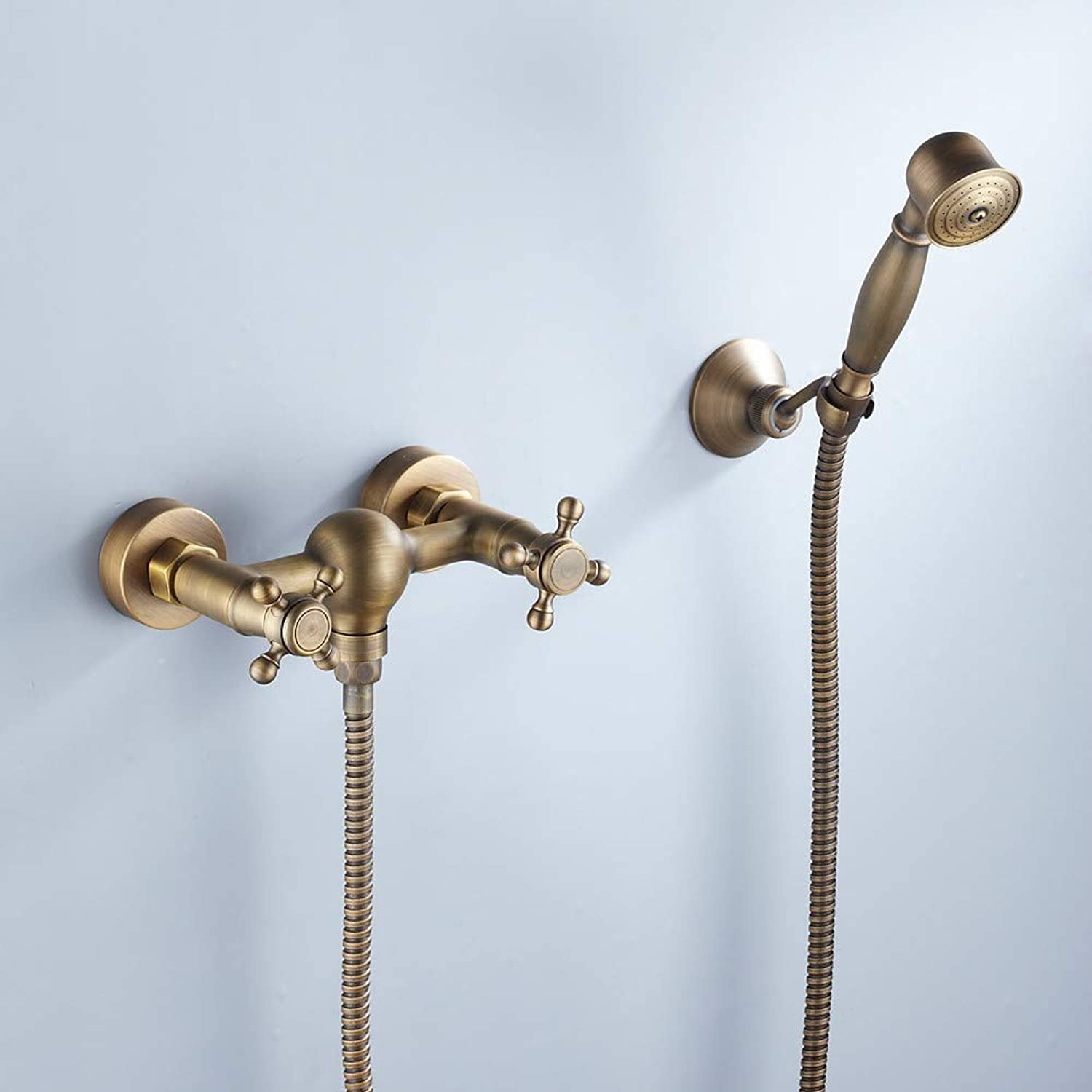 ZGL-Shower Faucet - Artistic Retro Antique Brass Mount Inside Ceramic Valve Other Countries