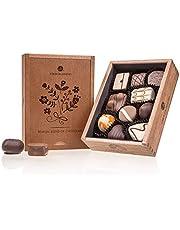 Elegance - Ladies - 10 handgjorda choklad   Högsta kvalitet i en trälåda Chokladpresent   Presentidé   Praliner   För damer   Kvinnor   Mors dag   Födelsedag   Kvinnodagen   Alla hjärtans dag   Vuxna