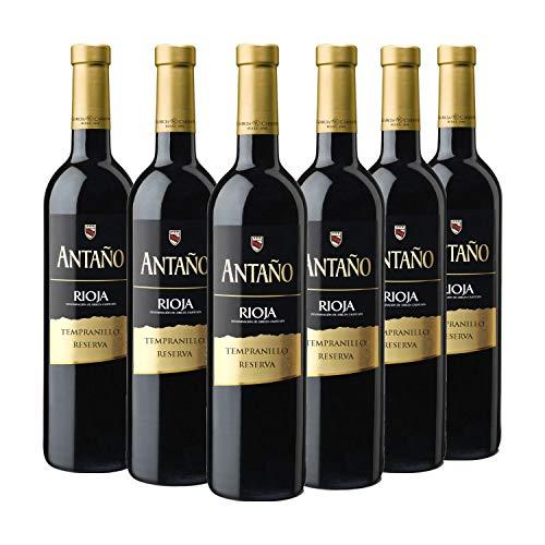 Antaño Reserva - Vino Tinto D.O Rioja - Caja de 6 botellas...