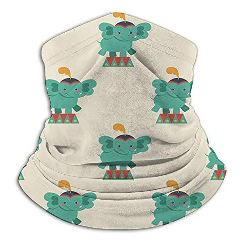 Diseño de circo Animales Adorable cara Toalla cubierta Pañuelos para polvo, aire libre, festivales, deportes