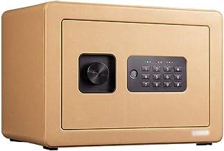 JBAMQ Digital Security Safe Box, Cabinets Wall Safe Lock Box Cash Strongbox with Number Keys Emergency Lock (Color : Gold)