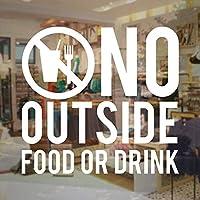 外の食べ物や飲み物の看板はありませんビジネスビニールウォールステッカードアステッカー取り外し可能なカフェレストランショップウィンドウの装飾30X28cm