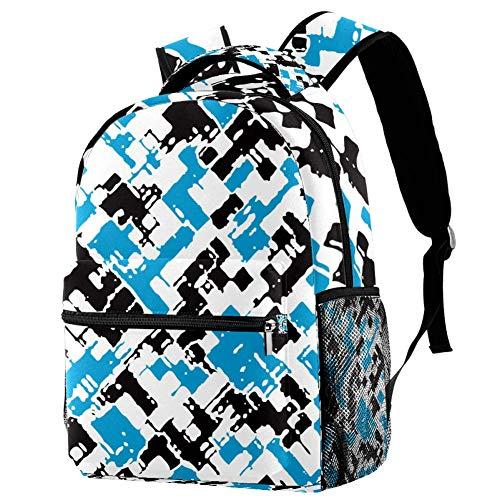 Zebra Print Blue Mochila Mochila escolar Bolsa de libro Casual Daypack para viajes, motivo 2, Talla única, Mochila de a diario