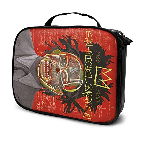 Jean Michel Basquiat Travel Cosmetic Case, Profional Cosmetic Cosmetic Bag Storage Box, Cosmetic Case with Compartment