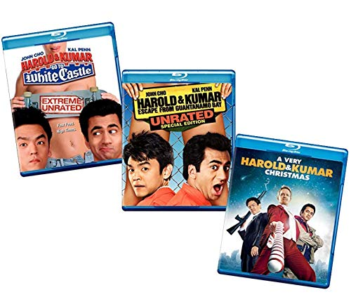 Complete Harold and Kumar Blu-ray Trilogy: Harold & Kumar Go To White Castle (Extreme Unrated) / Harold & Kumar: Escape from Guantanamo Bay (Unrated Special Edition) / A Very Harold & Kumar Christmas