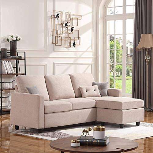 Modern 3 Seater Sofa Bed Fabric Couch Settee Sofa Bed with Memory Foam PaddingRecliner Bed Sofa for Living Room