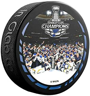 The Hockey Company 2019 Stanley Cup Champions Puck Blues Team Celebration Style Photo Puck PRE-Order Item - Shipping Begins June 27TH