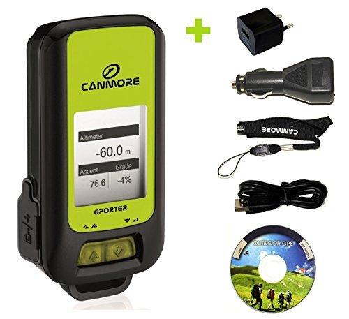 G-Porter GP-102+ GPS- Multifunktionsgerät (grün) - Set mit 110-240V 1A Universal Netzteil und 12V KFZ-Adapter