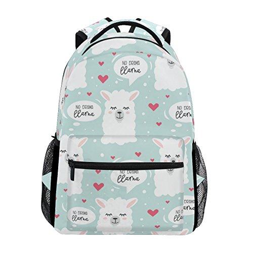 Fashion Laptop Backpack for Men and Women,No Drama Llama Shoulder Backpack Hiking Bag Travel Backpack Rucksack Bookbag for High School/College Student