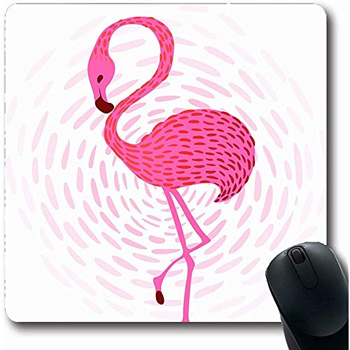Mousepad Oblong 18X22Cm snavel Afrikaanse Roze Flamingos zonsondergang Rood Afrika Beach Ontwerp Vogel Office Computer Laptop Notebook Muis Pad,Antislip Rubber