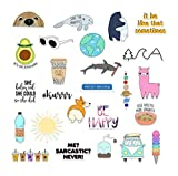 The Carefree Bee - 25 Stickers for Water Bottles, Laptops (Series 8)
