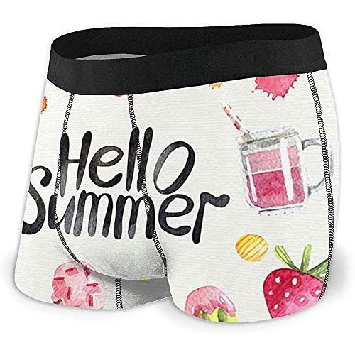 Web--ster Boxer Briefs Shorts Custom Men 'avec Fruit Bonjour sous-vêtement D'été sous-Vêtements Imprimés Pack XL