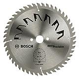 Bosch 2609256867 - Lama di precisione per sega circolare, 48 denti, carburo, taglio netto, diametro 190 mm alesaggio con anello di riduzione, 20/16, larghezza di taglio 2,5 mm