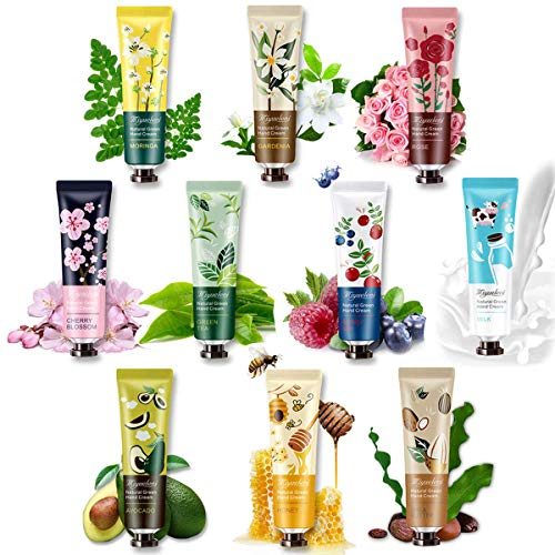 Hand Cream Hand Moisturizer - 10 Pack Plant Fragrance Hand Cream Moisturizing Hand Care Cream Gift Set for Working Hands & Dry Skin,Travel Size Hand Lotion, Best Women Gifts-30ml