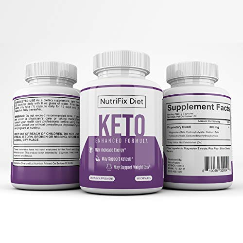 Nutrifix Diet - Keto Enhanced Formula - May Increase Energy - Support Ketosis and Weight Loss - 30 Day Supply 6