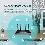 TP-Link WiFi 6 Router – 802.11ax Router, Gigabit Router, Dual Band, OFDMA, Parental Controls, Long Range Coverage… 12 JD Power Award ---Highest in customer satisfaction for wireless routers 2017 and 2019 Wi-Fi 6 Router: Archer AX10 comes equipped with latest wireless technology WiFi6 featuring OFDMA 1024-QAM, drastically increasing the speed and efficiency of the entire network. Next-gen Dual Band router – 300 Mbps on 2. 4 GHz (802. 11n) + 1201 Mbps on 5 GHz (802. 11ax)