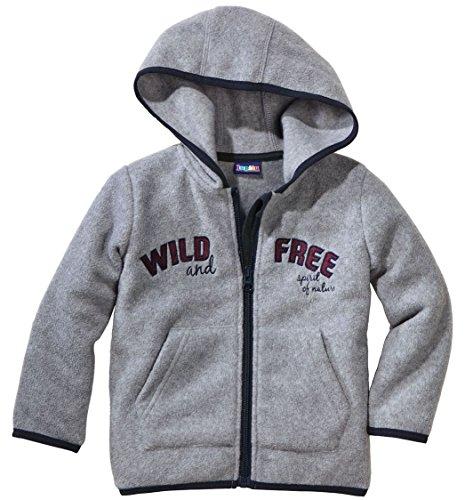 lupilu Jacke Jungen Fleecejacke - Wild Free - Grau - 86/92