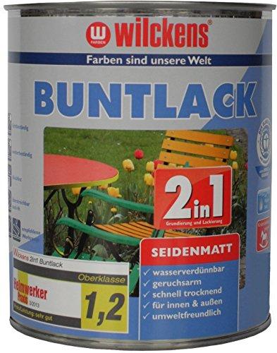 Wilckens 2in1 Buntlack seidenmatt, RAL 7001 silbergrau, 750 ml 12470100050