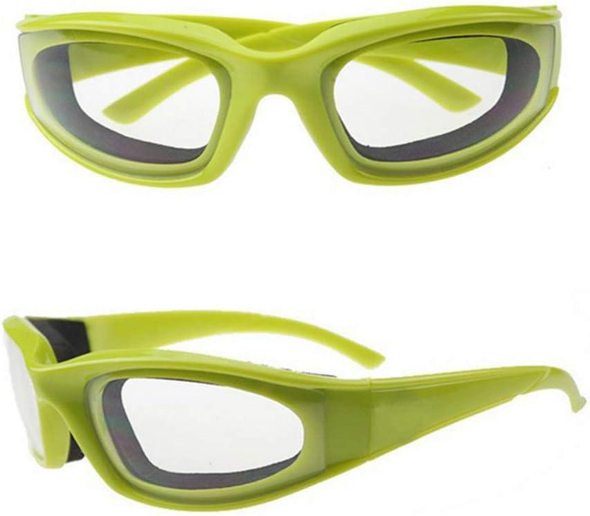 Hemoton Gafas para Cortar Cebolla, 2 Piezas Gafas Cebolleras Anti-Salpicadura Gafas de Protección de Ojos Protector para Cocina BBQ - Verde