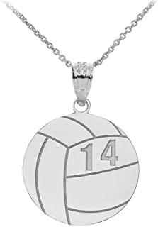 volleyball necklace with name