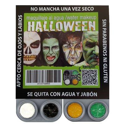 Kit Maquillaje Halloween Bruja al Agua Fantasia Grimas