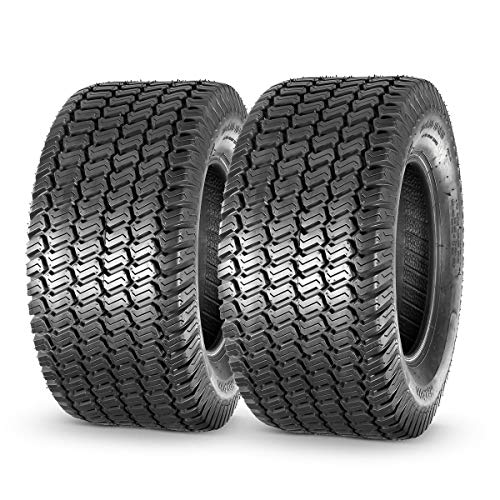 MaxAuto Turf Saver Lawn & Garden Tire - 20X8-10 20x8.00x10 LRB 4ply, Set of 2