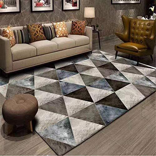 """Alfombra Cuarto Sala de Estar Alfombra Terciopelo cristalino Respetuoso del Medio Ambiente Moderno marrón Sala de alfombras decoración del hogar 160X230CM 5ft 3"""" X7ft 6.6"""""""