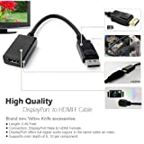 YarMonth - 1920x1200 DisplayPort Male to HDMI Female Active Adapter and Audio Converter (Black)