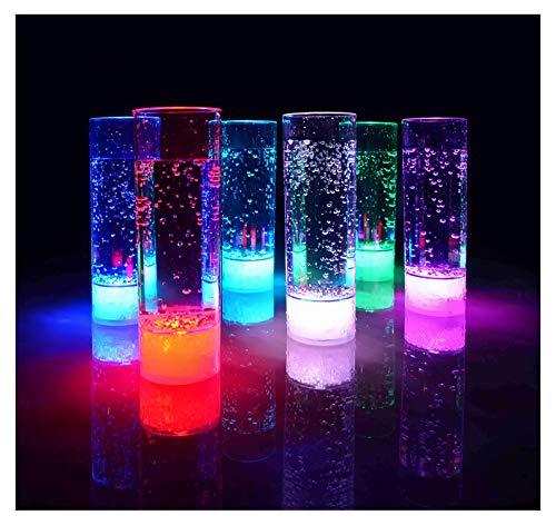 LED Longdrinkglas Party-Glas Geburtstag Hochzeit Kunststoffglas LED Trinkglas 400 ml Marke PRECORN