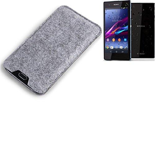 K-S-Trade Custodia Feltro Compatibile con -Sony Xperia Z1 Compact- Casi Sacchetto Protezione 1x