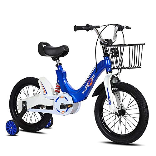 FUFU Kids Bikes, Boys And Girls Bikes, Sizes 14', 16', 18', 4 Colors, With Stabilizer And Bracket (Color : Blue, Size : 18in)