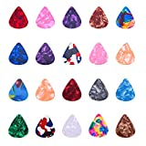 I-MART Stylish Colorful Celluloid Guitar Picks Plectrums for Guitar Bass Ukulele 0.46mm (Pack of 24 - Assorted Colors)