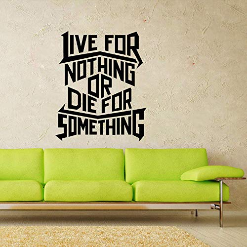 Pegatina de pared 54,5 cm x 66 cm vivir para nada morir algo positivo de estimación, decoración de pared, PVC