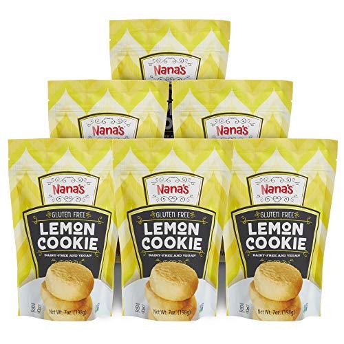 Nana's Gluten Free Cookies, Lemon, 7 Ounce (Pack of 6)