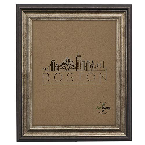 Picture Frame 4x6 Brown Antique - Made for Mount or Desktop Display, Photo Frames by EcoHome
