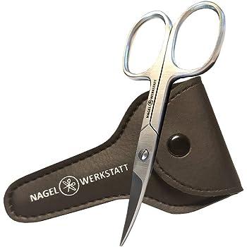 Klihn tijeras uñas, ultra afiladas + lima uñas cristal - incluye funda, Set de lima cristal + tijeras cortaúñas, ideal para la manicura y pedicura. (Set): Amazon.es: Belleza