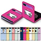 for Samsung Galaxy Z Flip Case Custom Cat Design Character Slim Hard Polycarbonate Shell Cover