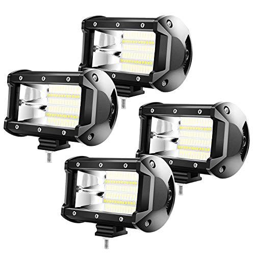 Froadp 4x72W LED Zusatzscheinwerfer Scheinwerfer - Arbeitsscheinwerfer Offroad Flutlicht IP67 SUV LKW UTV (4x72W)
