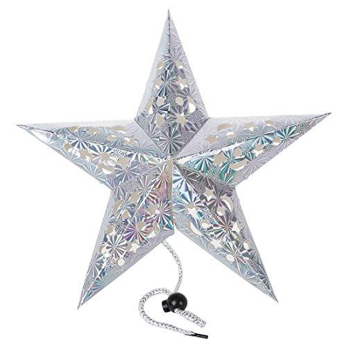 REFURBISHHOUSE Pentagramm Fuenfstern Papierlaterne haengende Ornamente Weihnacht Hochzeit Weihnachten Décor