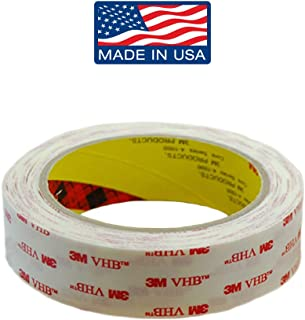 Adhesive Double Sided Tape Clear: Invisible Mounting Tape, Double Sided Removable Tape, 1 in x 96 in by Volarium