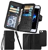 Urvoix Funda para iPhone 7 Plus / 8 Plus (5,5 pulgadas), cartera de piel, con tapa y tarjetero 2 en 1, parte trasera magnética extraíble para iPhone 7 Plus / 8 Plus (no para iPhone 7).