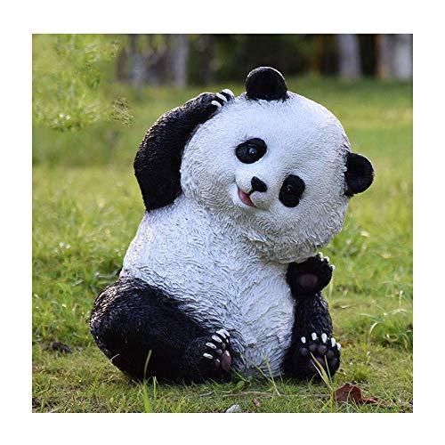 MISS KANG Esculturas decoración Creativa Panda Escultura al Aire Libre jardín Patio simulación decoración Animal jardín Paisaje Adornos Qingchunw