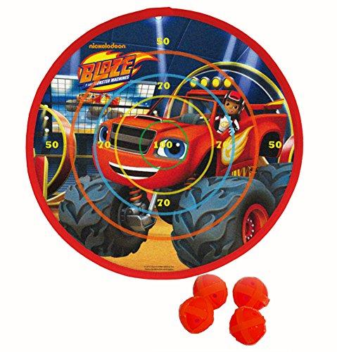 Blaze & Monster Machine Klett-Dartscheibe mit Vier Geschosse (Saica 2153)
