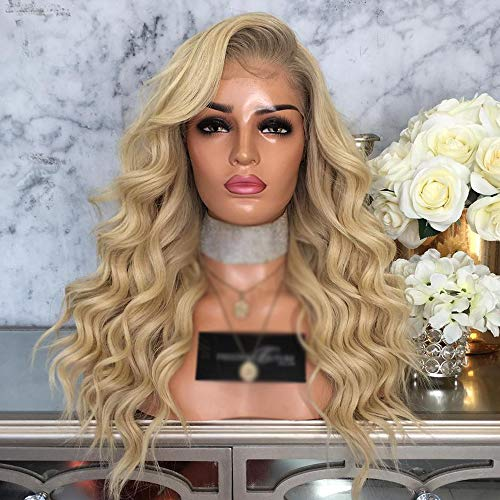 13x6 Lace Front Frauen Blonde Ombre Klassische Perücke für Damen Hochwertige Kunsthaarperücken Mit Perücke Kappe für Frauen Cosplay Party Täglichen Gebrauch 24in